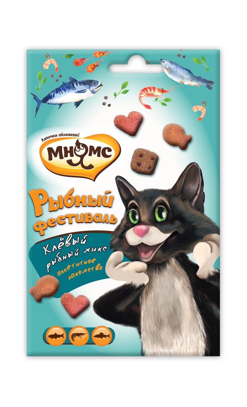 """Лакомство Мнямс Микс """"Рыбный фестиваль"""" для кошек 50 г"""