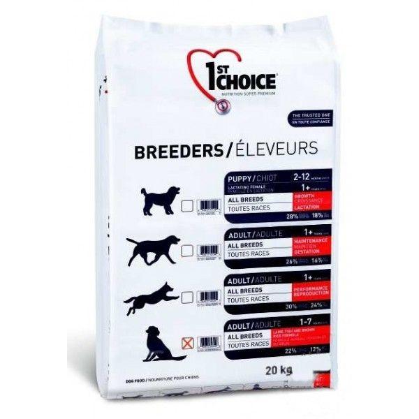 Сухой корм 1st Choice Breeders Sensitive Skin&Coat для собак с чувствительной кожей и шерстью