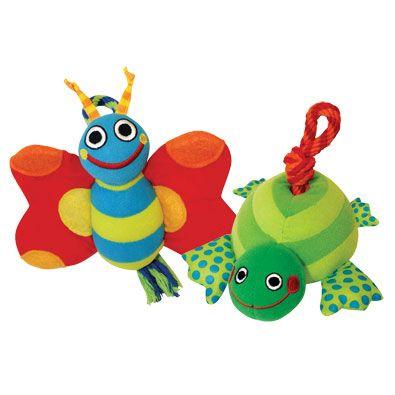 Игрушка Petstages Бабочка и Черепашка в ассортименте для собак