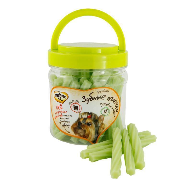 Лакомство Мнямс крученые зубные палочки с зелёным чаем для собак 340 г
