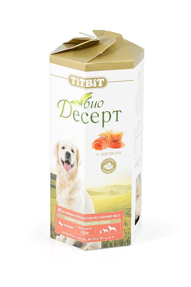Печенье TiTBiT с лососем стандарт для собак
