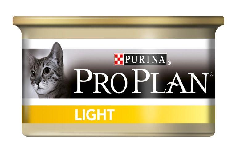 Консервы Pro Plan Light для кошек, низкокалорийные с индейкой, 85 г
