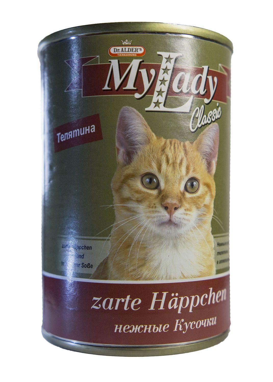 Консервы Dr. Alder's My Lady Classic кусочки в соусе для взрослых кошек