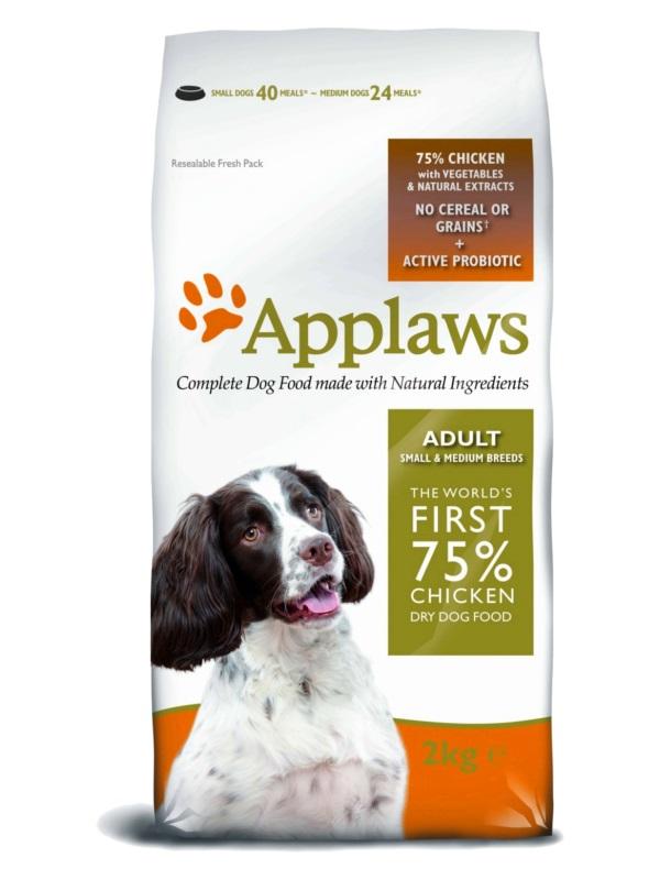 """APPLAWS Беззерновой корм для Собак малых и средних пород """"Курица/Овощи"""""""