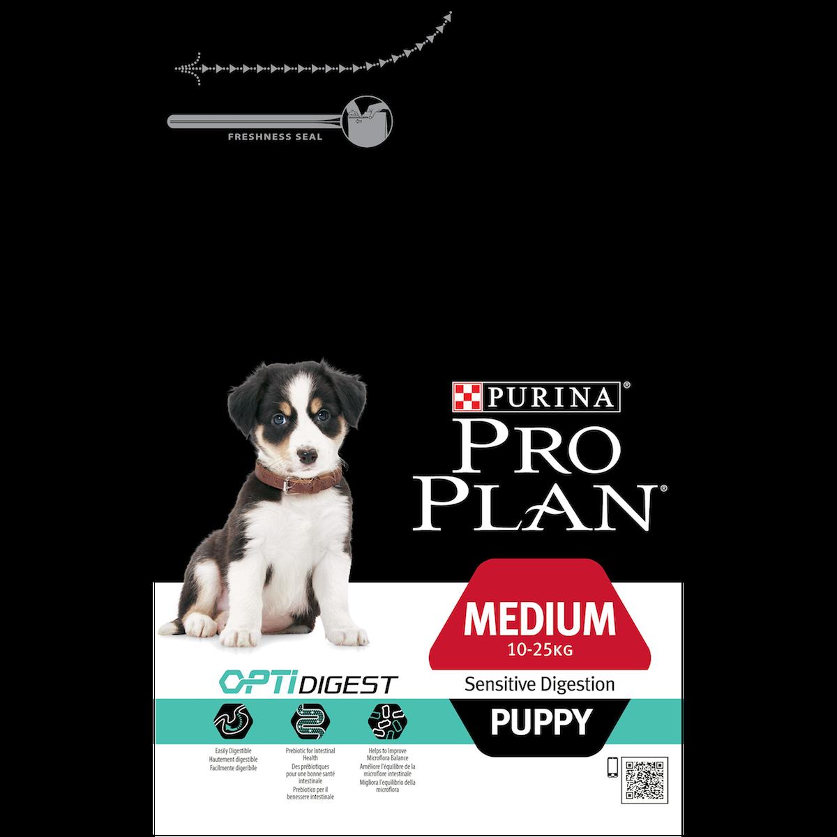 Сухой корм Pro Plan Puppy Medium Sensitive Digestion для щенков средних пород с чувствительным пищеварением
