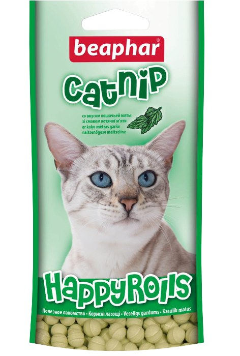 Лакомство Beaphar Happy Rolls Catnip со вкусом кошачьей мяты для кошек