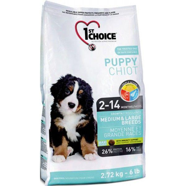 Сухой корм 1st Choice Puppy Medium&Large Breeds для щенков средних и крупных пород