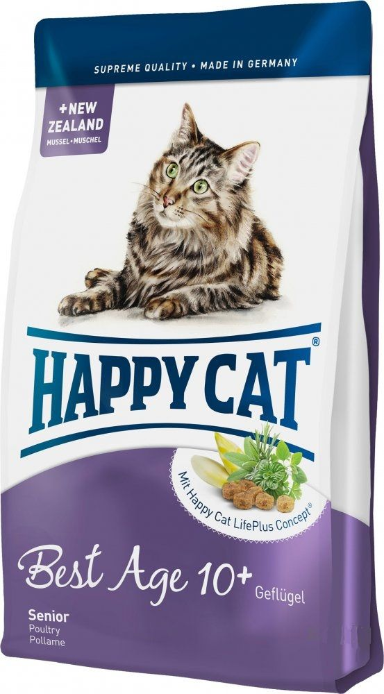 Сухой корм Happy Cat Fit&Well Best Age 10+ для кошек старше 10 лет