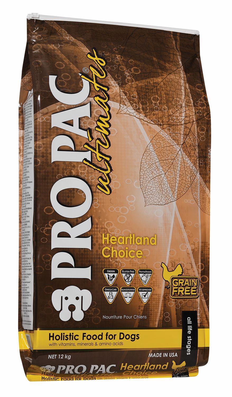 Сухой корм Pro Pac Ultimates Heartland Choice беззерновой с курицей и картофелем для собак