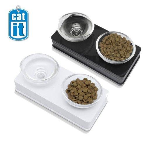 Стеклянные миски Hagen на подставке для кошек