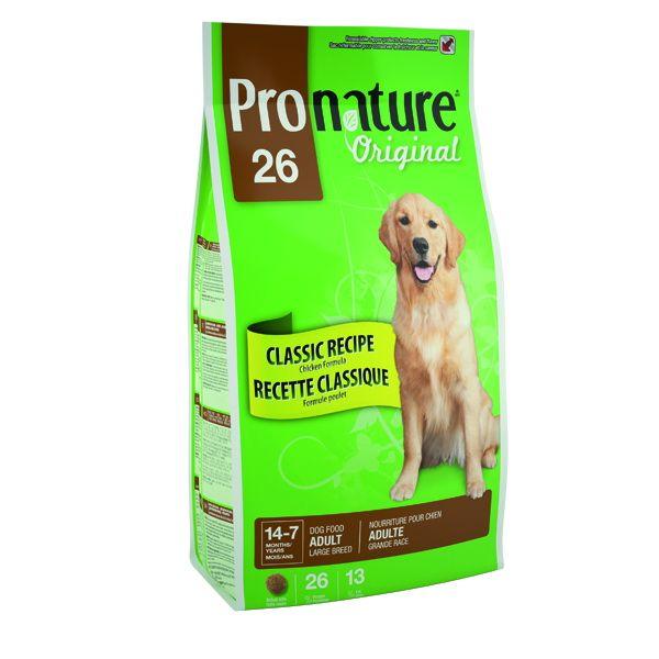 Сухой корм Pronature Original 26 с цыпленком для собак крупных пород