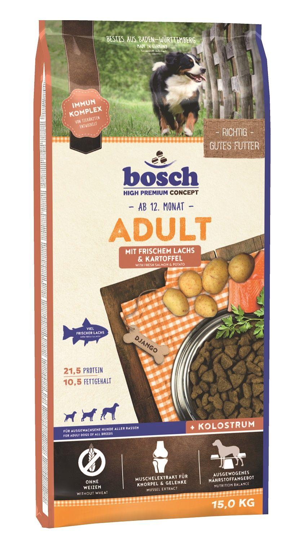 Сухой корм Bosch Adult Salmon&Potato с лососем и картофелем для взрослых собак