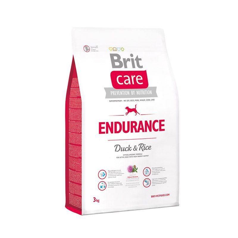 Сухой корм Brit Care Endurance с уткой и рисом для активных собак всех пород