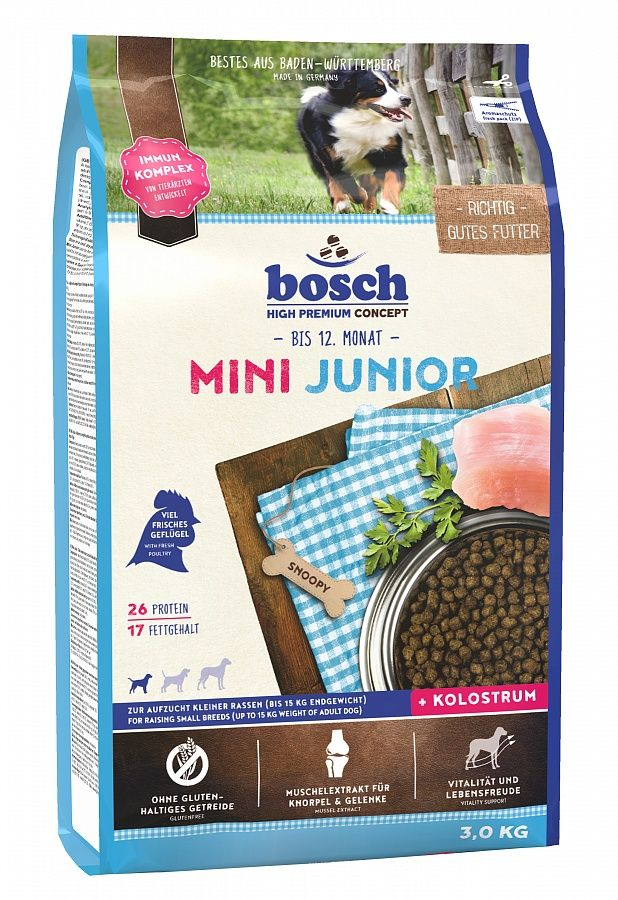 Сухой корм Bosch Mini Junior для щенков мелких пород