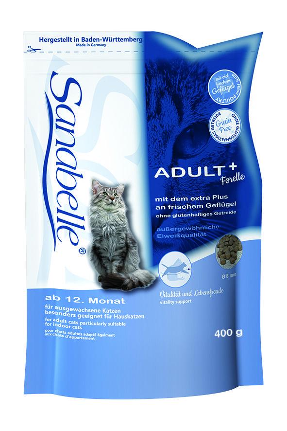 Сухой корм Sanabelle Adult с форелью для взрослых кошек