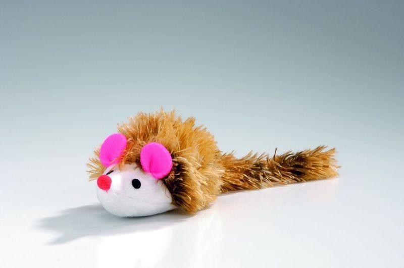 Игрушка I.P.T.S. Beeztees Мышь плюшевая с длинным ворсом для кошек