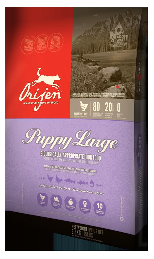 Сухой корм Orijen Puppy Large для щенков крупных пород