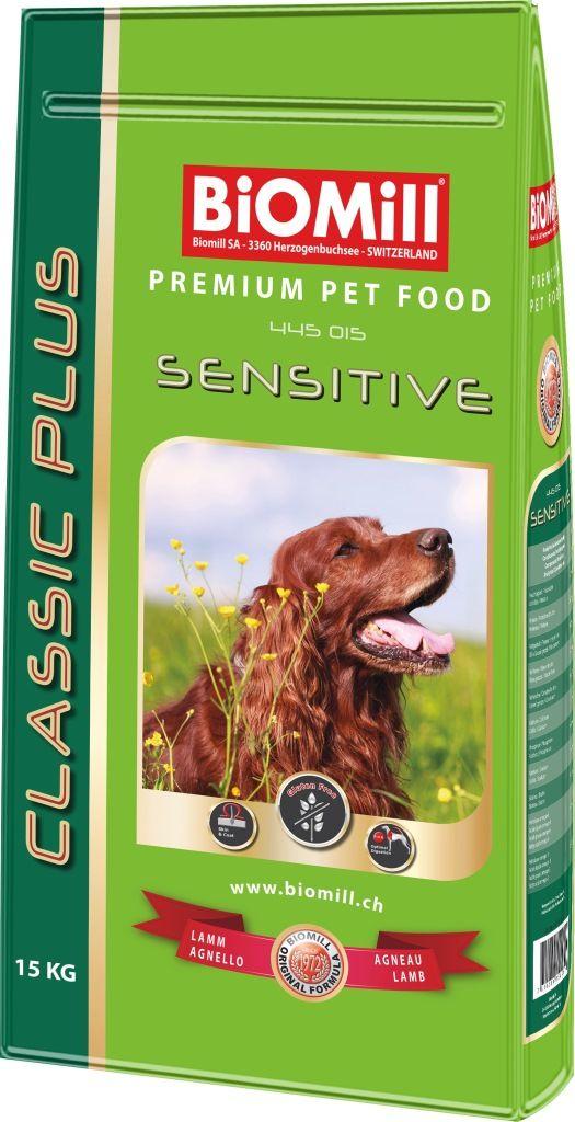 Сухой корм Biomill Classic Sensitive для взрослых и молодых собак всех пород с чувствительным пищеварением