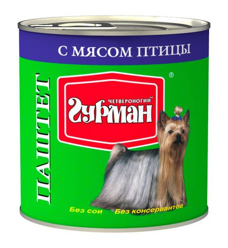 Паштет Четвероногий Гурман для собак 240 г