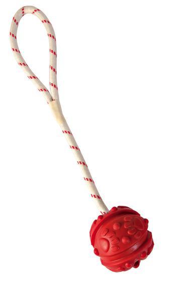 Игрушка Trixie Мяч на веревке резиновый для собак