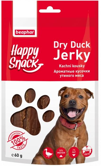 Лакомство Beaphar Happy Snack Dry Duck Jerky Ароматные кусочки утиного мяса для собак
