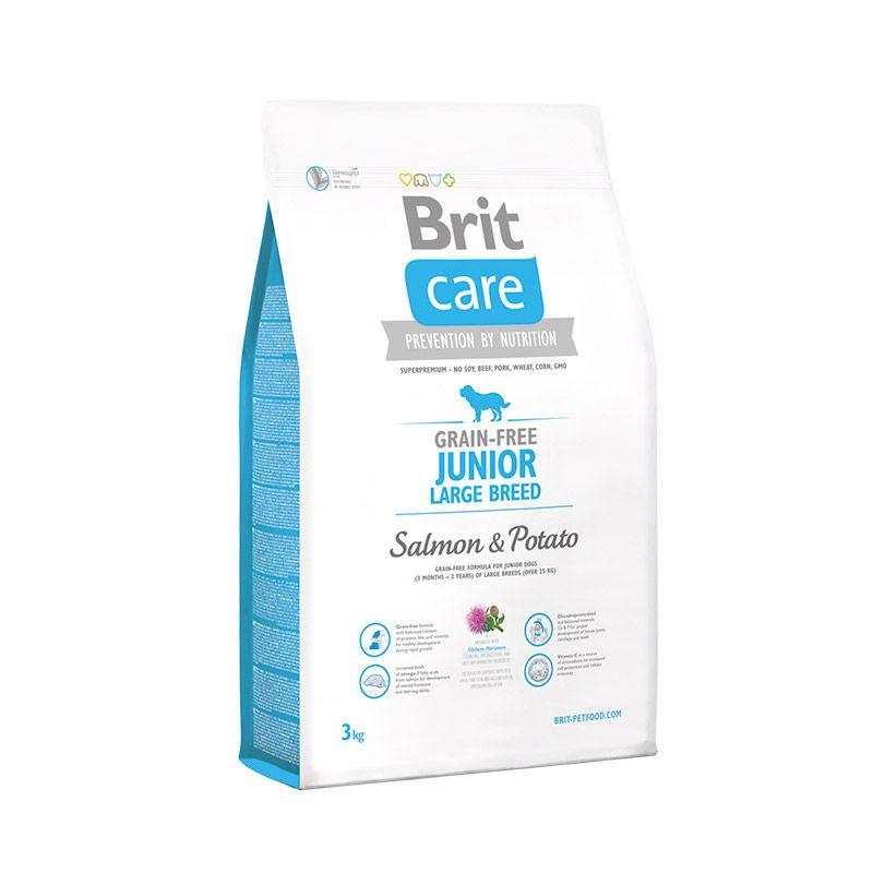 Сухой корм Brit Care Salmon&Potato Junior Large Breed беззерновой для юниоров крупных пород