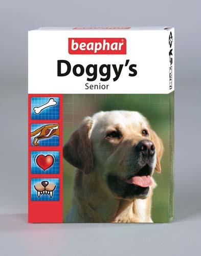 Витаминизированное лакомство Beaphar Doggy's Senior для пожилых собак 75 таб