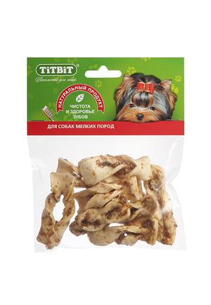 Плетенки из кожи TiTBiT в мягкой упаковке для собак