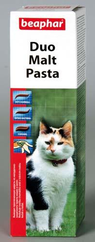 Паста Beaphar Duo Malt Pasta для вывода шерсти из желудка 100 г