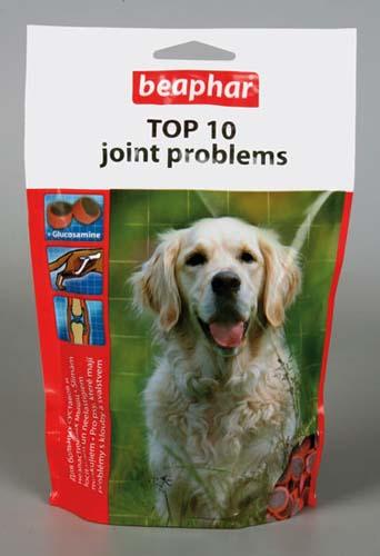 Пищевая добавка Beaphar Top 10 Joint Problems с глюкозамином для здоровья суставов и связок собак 150 г