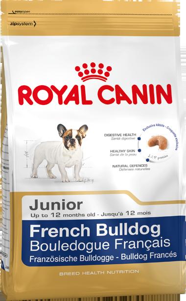 Сухой корм Royal Canin French Bulldog Junior для щенков породы Французский Бульдог