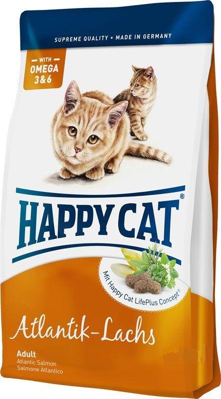 Сухой корм Happy Cat Adult Fit&Well Atlantik-Lachs с атлантическим лососем для кошек