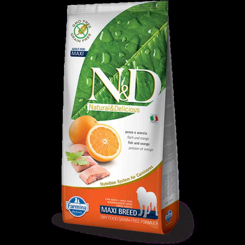Сухой корм Farmina Natural&Delicious Grain Free Dog Adult Maxi беззерновой для взрослых собак крупных пород