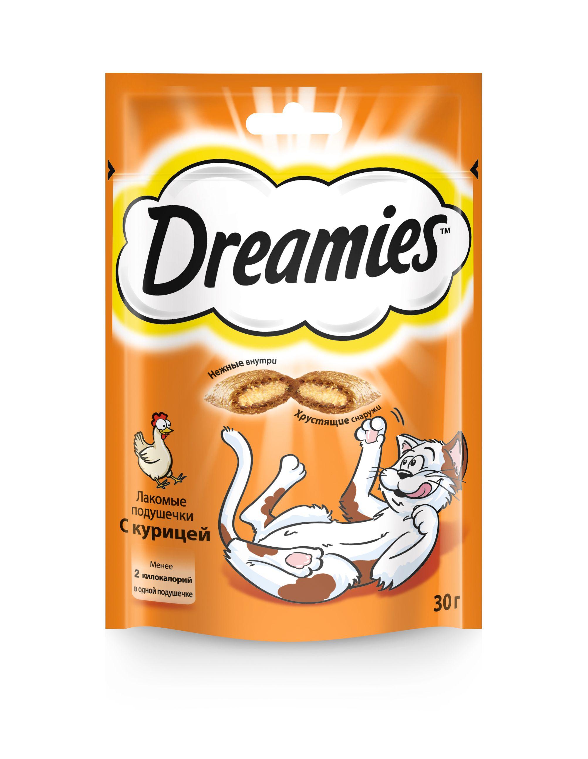 Лакомство Dreamies для кошек с курицей 30 г