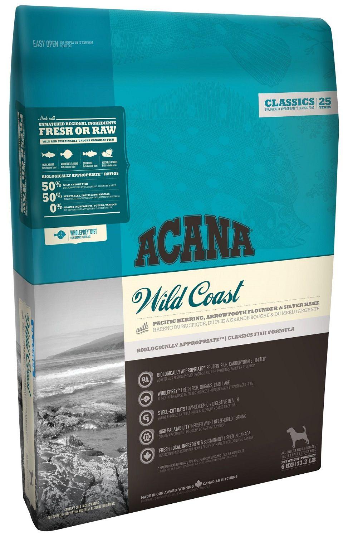 Сухой корм Acana Classics Wild Coast с рыбой для собак всех пород и возрастов