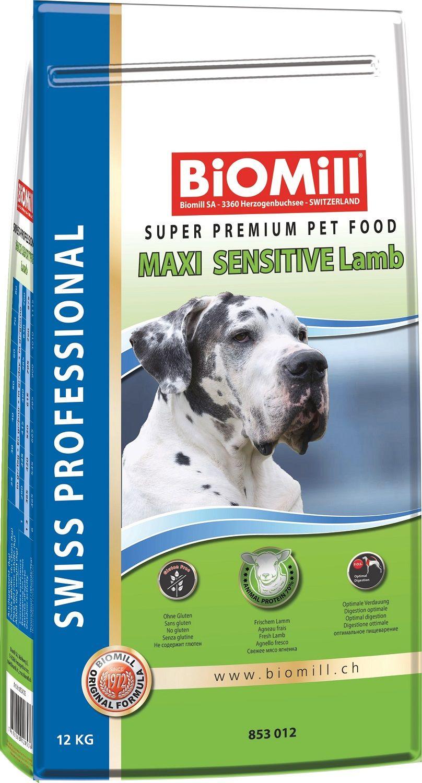 Сухой корм Biomill Swiss Professional Maxi Sensitive Lamb&Rice для привередливых и проблемных собак