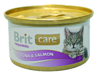 Консервы Brit Care Tuna&Salmon с тунцом и лососем для кошек