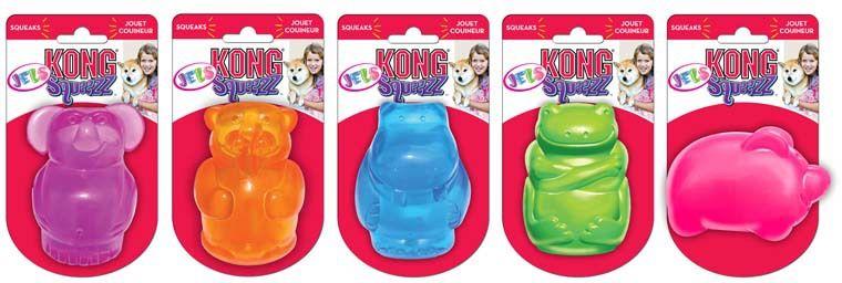 Игрушка Kong Squeezz Jels Животные в ассортименте для собак