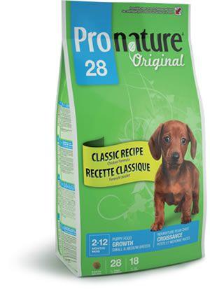 Сухой корм Pronature Original 28 с цыпленком для щенков мелких и средних пород