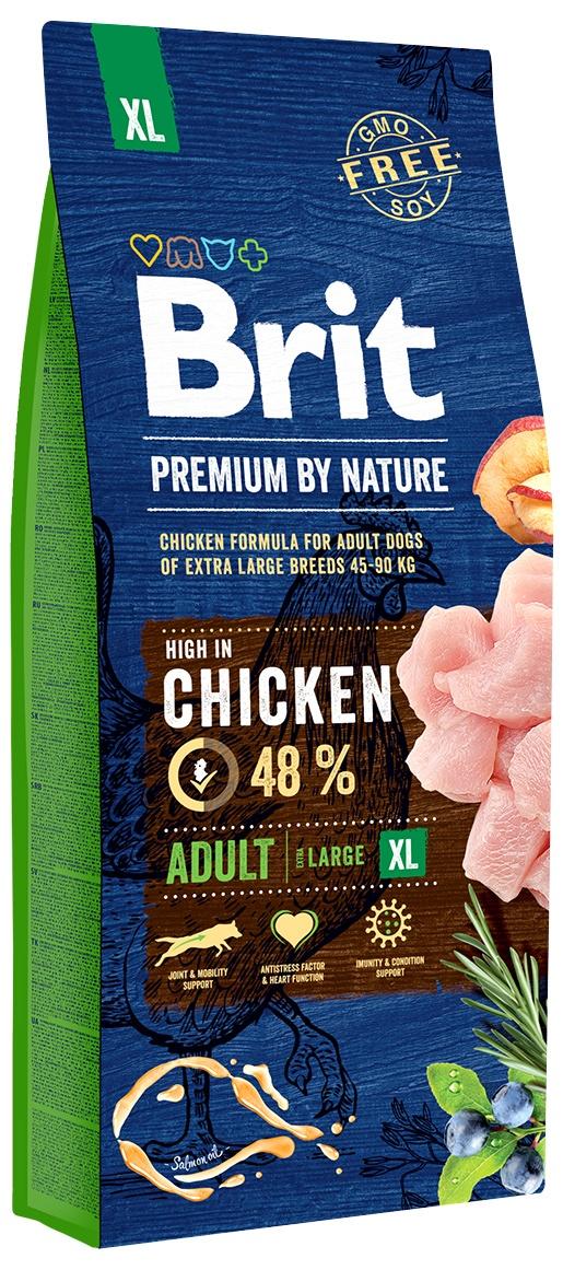 Сухой корм Brit Premium by Nature Adult XL для взрослых собак гигантских пород