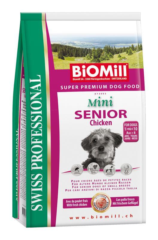 Сухой корм Biomill Swiss Professional Mini Senior для взрослых собак старше 6 лет