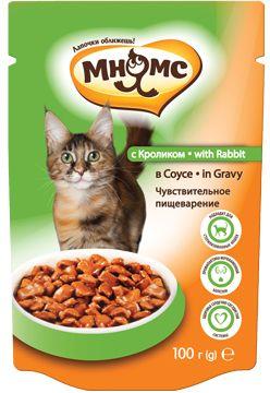 Паучи Мнямс чувствительное пищеварение для взрослых кошек
