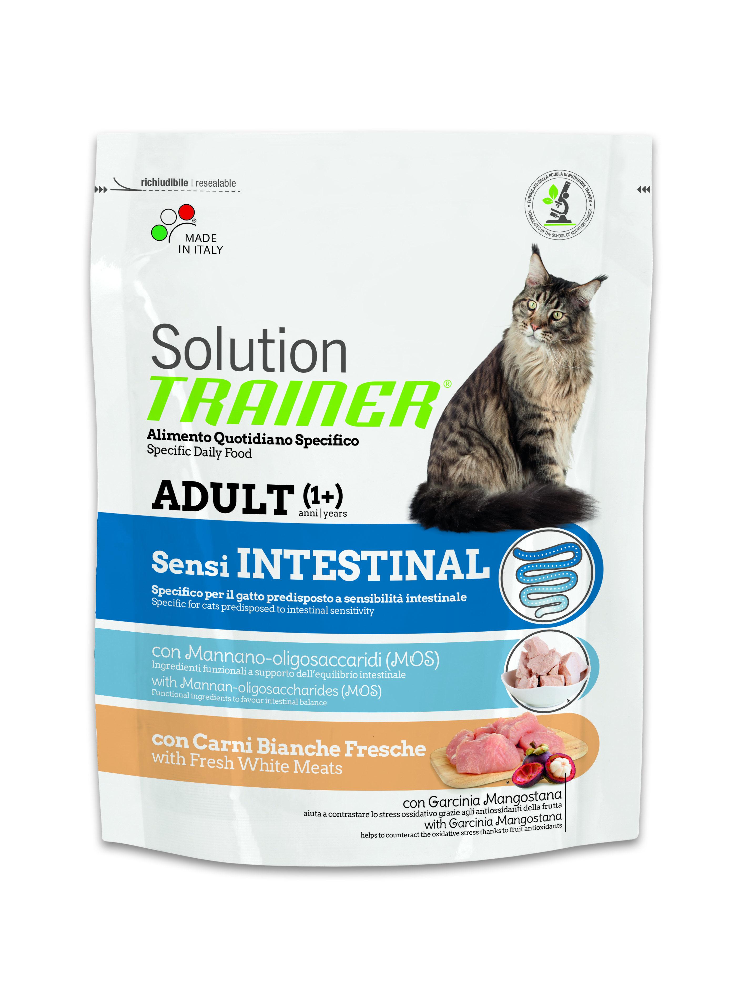 Сухой корм Trainer Solution Sensintestinal для кошек с чувствительным пищеварением