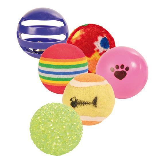 Набор мячиков Trixie для кошек, 6 шт