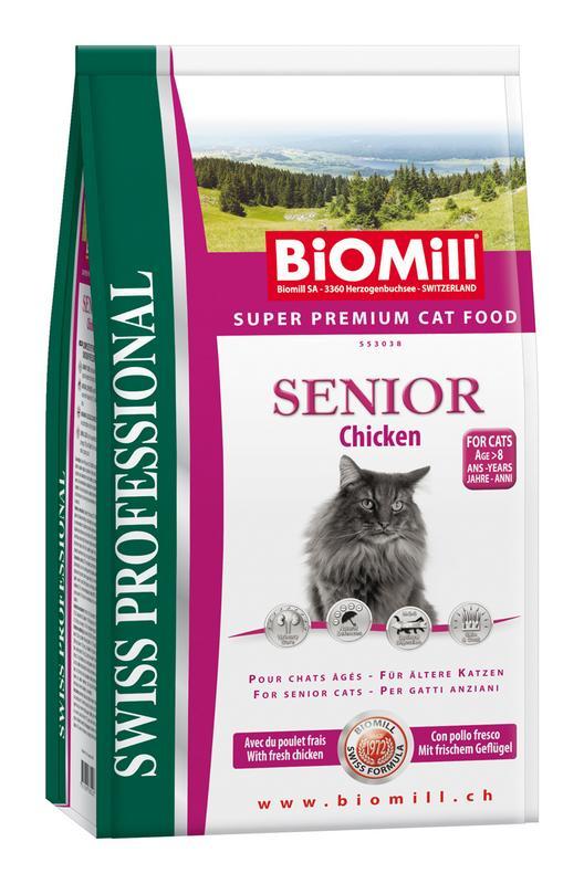 Сухой корм Biomill Swiss Professional Cat Senior для кошек старше 8 лет и в период восстановления после заболеваний