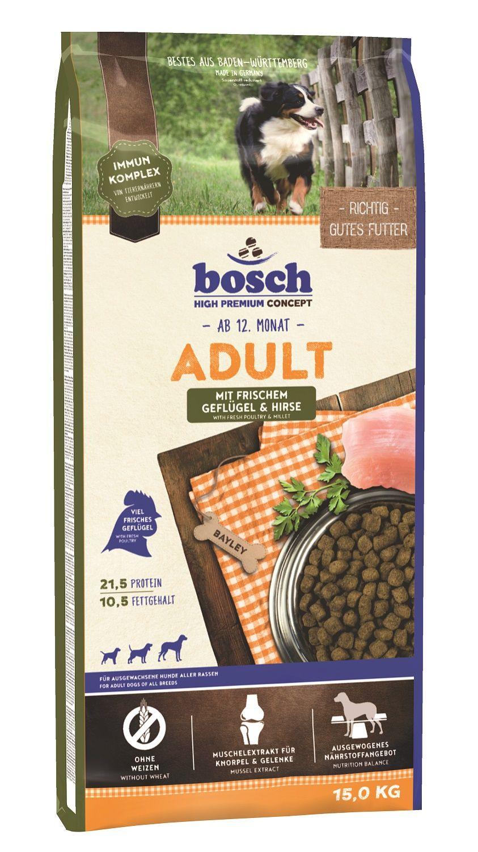 Сухой корм Bosch Adult Poultry&Millet с птицей и просо для взрослых собак