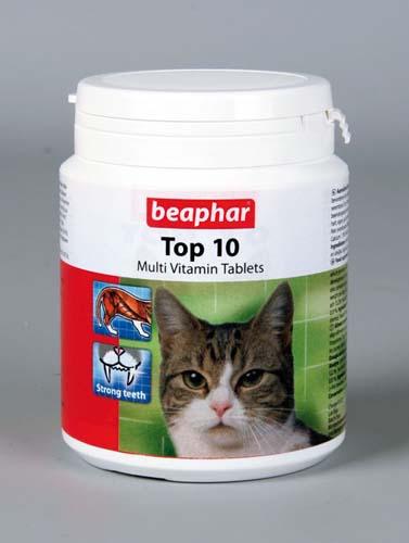 Витамины Beaphar Top 10 для кошек 180 табл.