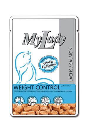 Паучи Dr. Alder's My Lady Weight Control с лососем для пожилых или кастрированных кошек 85 г