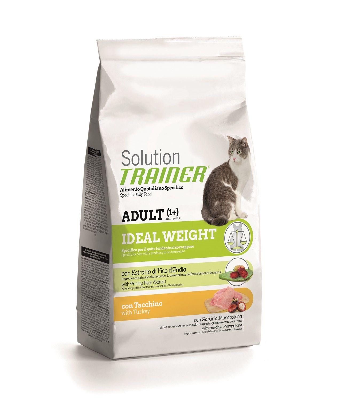 Сухой корм Trainer Solution Ideal Weight с индейкой для кошек с избыточным весом