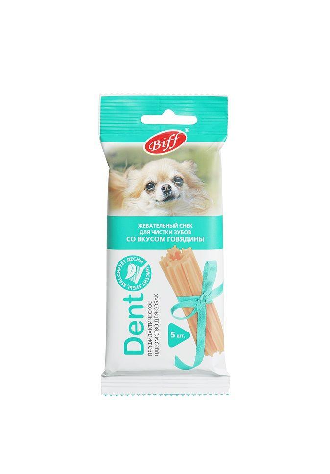 Жевательный снек TiTBiT Dent со вкусом говядины для мелких собак 5 шт